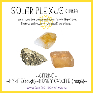 Solar Plexus Chakra Healing Crystal Intention Set