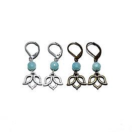 Amazonite Lotus Earrings