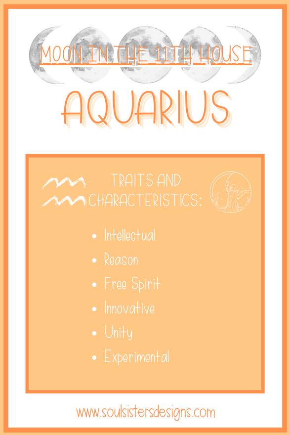 Moon in the 11th House: Aquarius