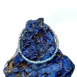 Apatite and Hematite Adjustable Mini Gemstone Bracelet
