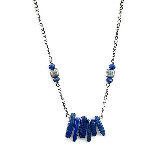 Lapis Lazuli and Pyrite Third Eye Necklace