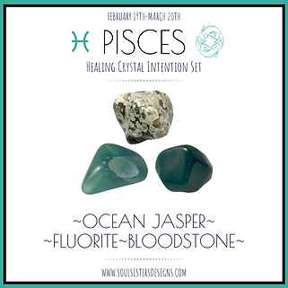 Pisces Healing Crystal Intention Set