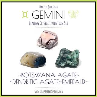 Gemini Healing Crystal Intention Set