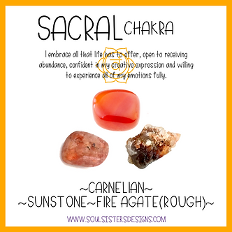 Sacral Chakra Healing Crystal Intention Set