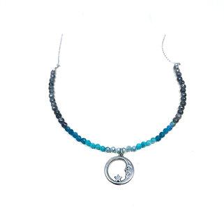 Mystic Aquamarine, Amazonite, Apatite and Mystic Norwegian Moonstone Necklace