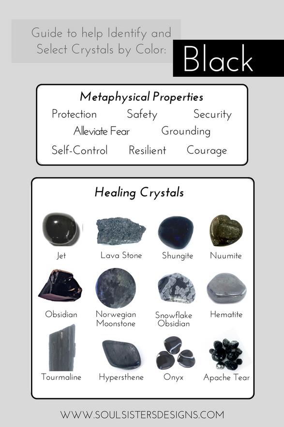Black Healing Crystals