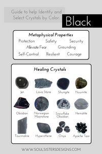 Guide to Black Healing Crystals by Soul Sisters Designs