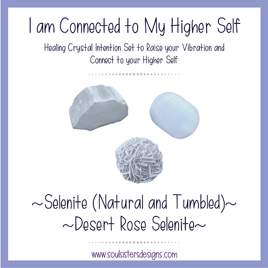 I am Connected to My Higher Self Healing Crystal Intention Set