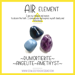 Element Air Healing Crystal Intention Set
