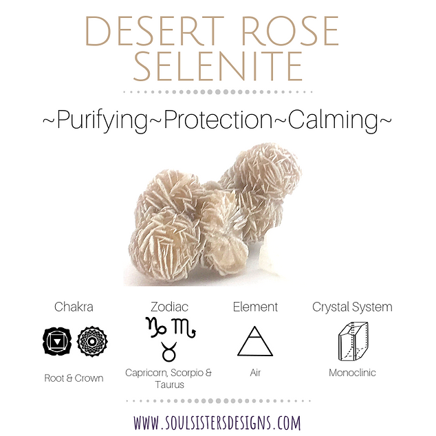Metaphysical Healing Properties for Desert Rose Selenite by Soul Sisters Designs