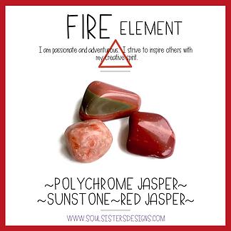 Element Fire Healing Crystal Intention Set
