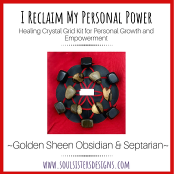 I Reclaim My Personal Power Healing Crystal Grid Kit