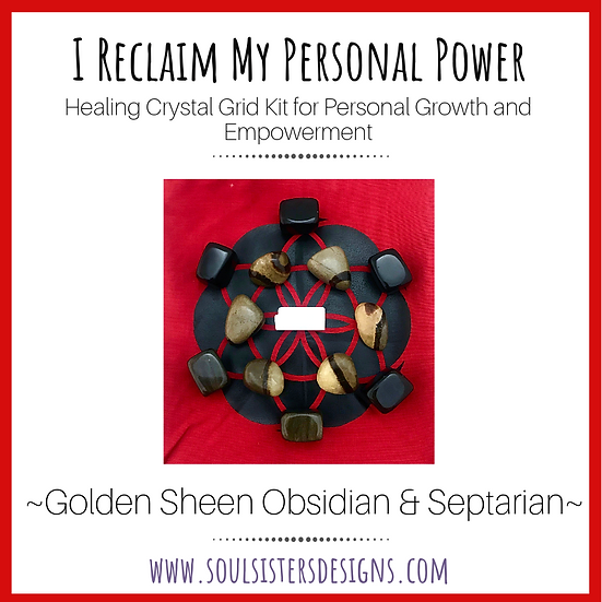 I Reclaim My Personal Power Healing Crystal Grid Kit