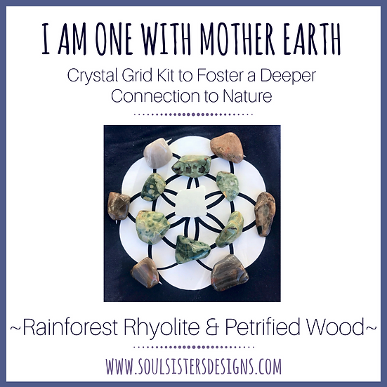 I am One with Mother Earth Crystal Grid Kit