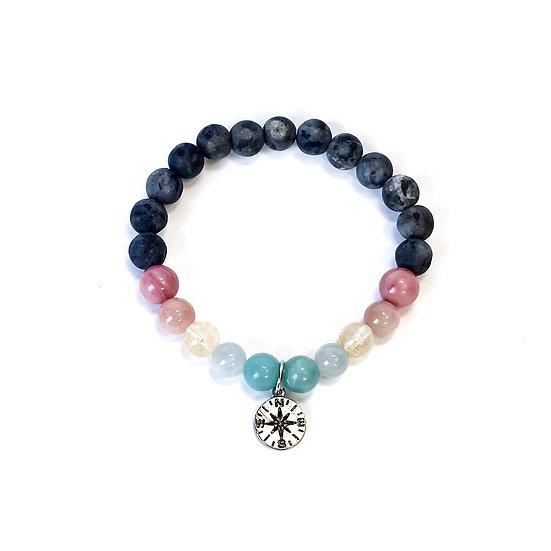 Amazonite, Aquamarine, Citrine, Sunstone, Rhodonite Norwegian Moonstone Bracelet