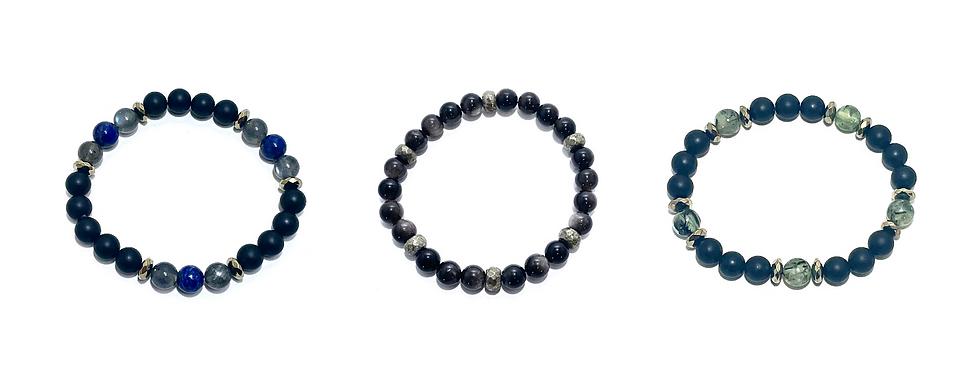 Healing Crystal Men's Bracelets Handmade by Soul Sisters Designs