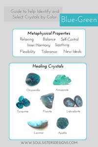 Guide to Blue-Green Healing Crystals by Soul Sisters Designs