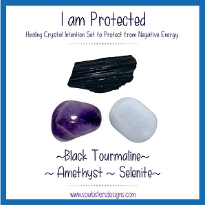 I am Protected Healing Crystal Intention Set