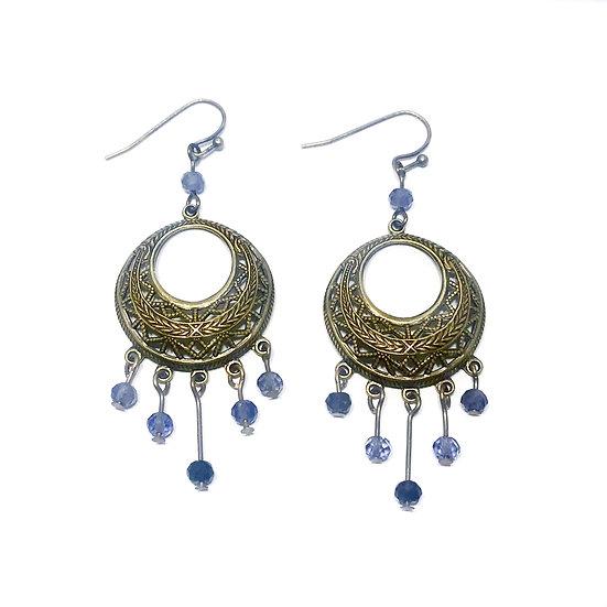 Faceted Iolite Dangle Earrings