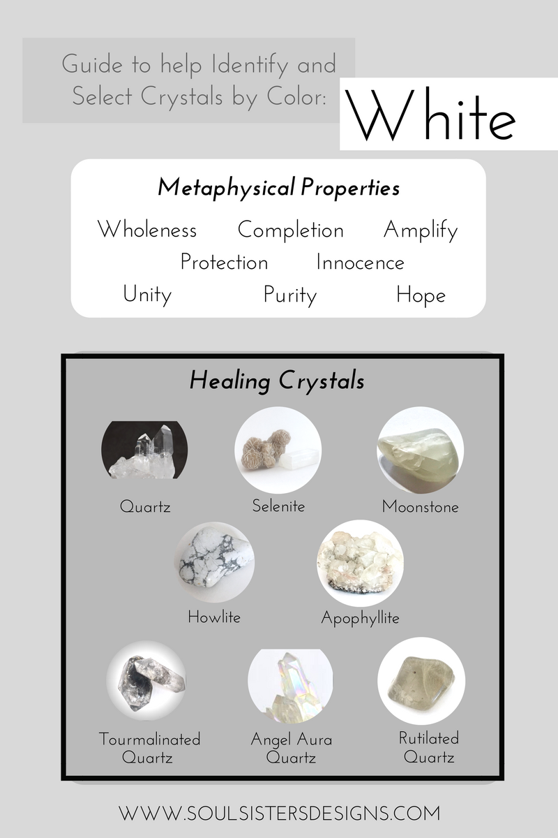 Guide to White Healing Crystals by Soul Sisters Designs