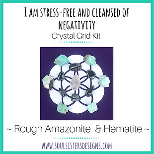 I Am Stress-Free and Cleansed of Negativity Healing Crystal Grid Kit