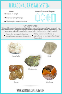 Triclinic Crystals and Crystal Grids by Soul Sisters Designs