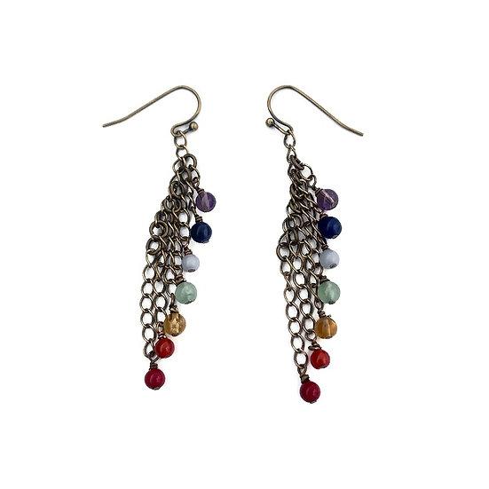 7 Chakra Dangle Earrings