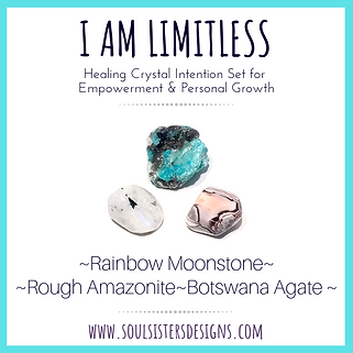 I am Limitless Healing Crystal Intention Set for Empowerment and Personal Growth