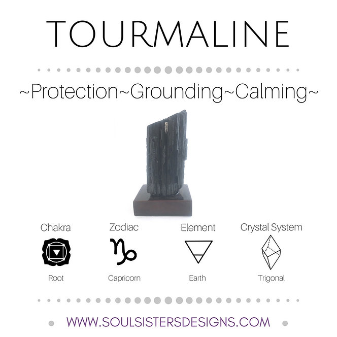 Metaphysical Healing Properties for Tourmaline by Soul Sisters Designs