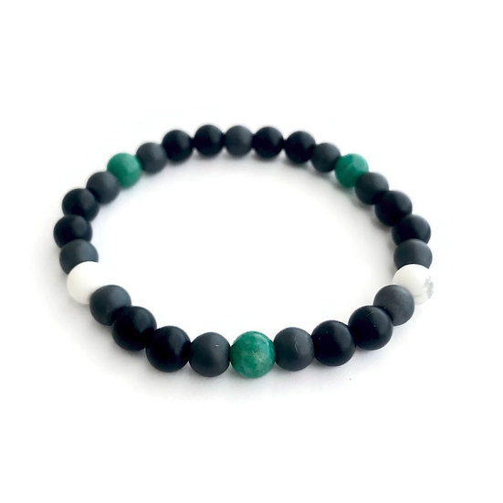 Russian Amazonite, Onyx, Hematite and Howlite