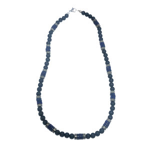 Lapis Lazuli, Pyrite and Onyx Men's Necklace