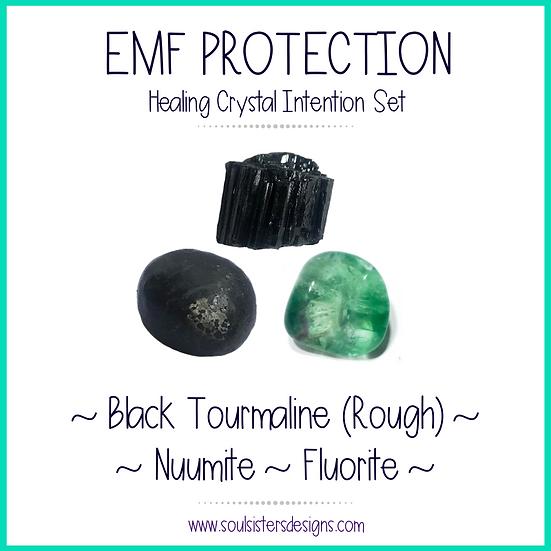EMF Protection Healing Crystal Set