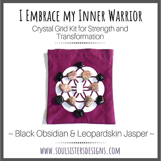 I Embrace My Inner Warrior Crystal Grid Kit
