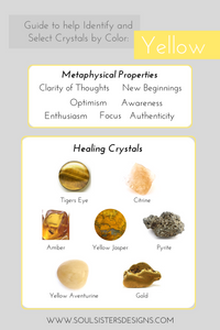 Guide to Yellow Healing Crystals by Soul Sisters Designs