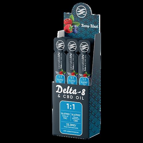 Delta 8 & CBD Oil 1:1 Daily Dose