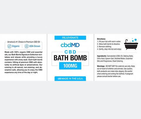 Rejuvenate CBD Bath Bomb Eucalyptus