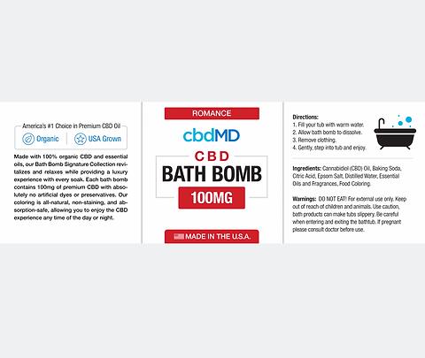 Romance CBD Bath Bomb Frankincense