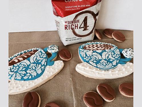 Lrg Coffee Cups - Detailed Sugar Cookies