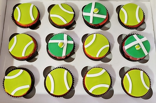 Tennis Ball Fondant Cupcakes