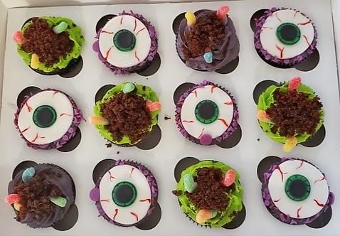 Halloween Fondant Cupcakes
