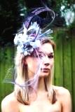 Ostrich feather headpiece