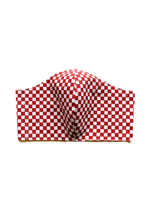 Red Checkered Mask
