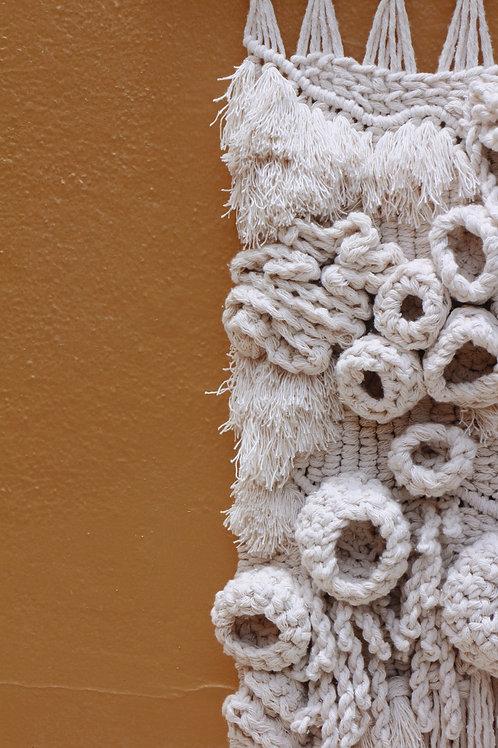 Coral Macrame Wall Hanging