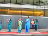14 - Hospital workers cheer