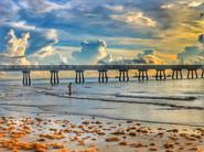 18 - Pier, Clouds, Beach