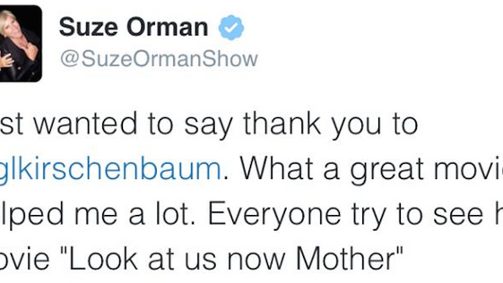 """Helped me a lot.""  SUZE ORMAN"
