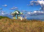 10 -  Green stripe Lifeguard Stand