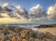 13 - Rocks, Beach, Clouds
