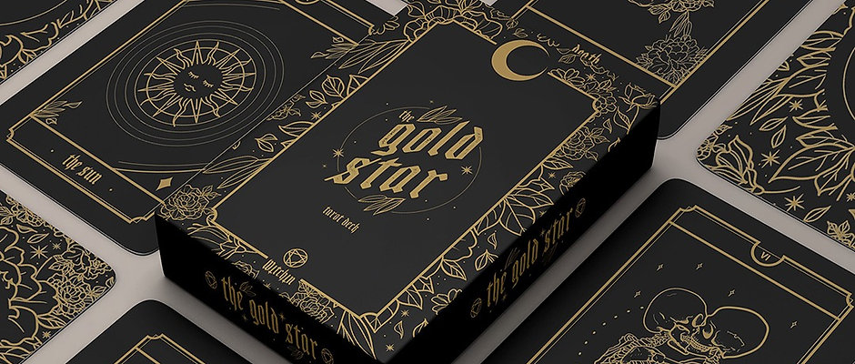 "Limited Edition ""The Gold Star"" Witchin Tarot Deck"