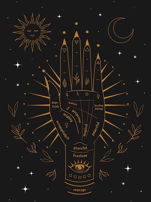 Positive Palmistry print